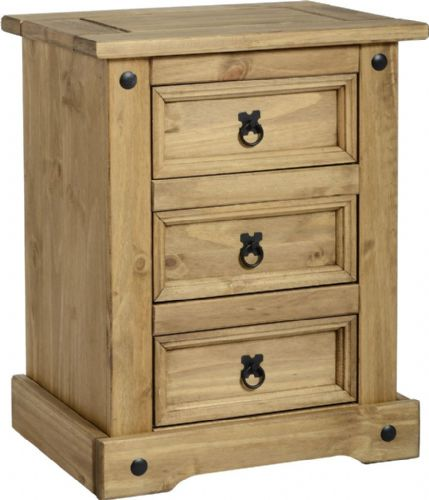 Corin 3 Drawer Bedside Chest